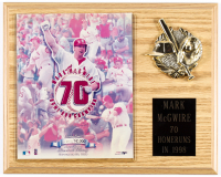 Mark McGwire Cardinals 70th Home Run 12x15 Plaque Photo Display at PristineAuction.com