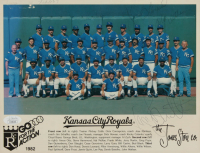 1982 Royals 8x10 Photo Team-Signed by (4) with George Brett, John Wathan, Willie Wilson & Dennis Leonard (JSA COA) at PristineAuction.com