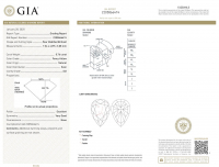 1.45ct Natural Fancy Yellow Diamond Ring 14kt White Gold (GIA & GAL Certified) at PristineAuction.com