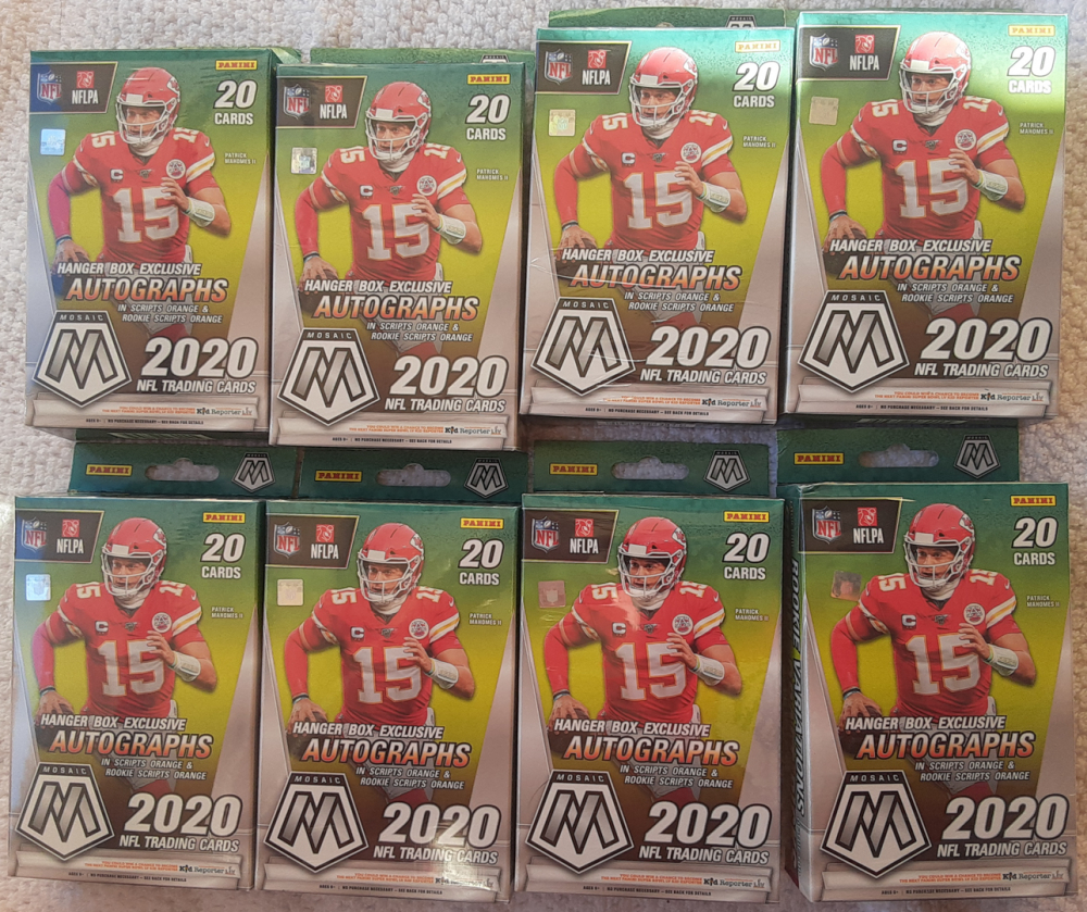 Lot of (8) 2020 Panini Mosaic NFL Football Hanger Boxes at PristineAuction.com