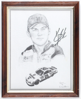 Kevin Harvick Signed NASCAR 12.5x15.5 Custom Framed Lithograph (JSA ALOA) at PristineAuction.com