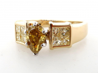 1.25ct Natural Fancy Yellow Diamond Ring 14kt Yellow Gold (GIA & GAL Certified) at PristineAuction.com