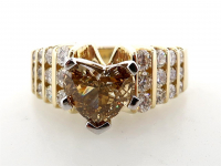 1.52ct Natural Fancy Yellow-Brown & White Diamond Ring 14kt Yellow Gold (GIA & GAL Certified) at PristineAuction.com
