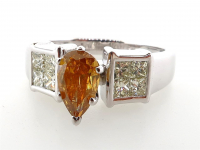 1.98ct Natural Fancy Yellow-Brown & White Diamond Ring 14kt Yellow Gold (GIA & GAL Certified) at PristineAuction.com