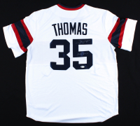 """Frank Thomas Signed White Sox Jersey Inscribed """"HOF 2014"""" (Beckett Hologram) at PristineAuction.com"""