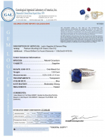 3.34ct Natural Blue Sapphire & Diamond Ring Platinum (GIA & GAL Certified) at PristineAuction.com