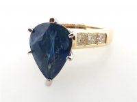 6.01ct Natural Blue Sapphire & Diamond Ring 14kt Yellow Gold (GIA & GAL Certified) at PristineAuction.com