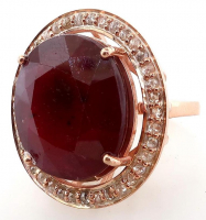 26.40ct Natural Ruby & Diamond Ring (GAL Certified) at PristineAuction.com