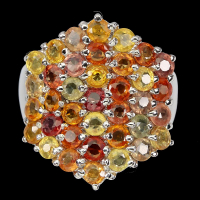 4.10ct Natural Multi-Colored Sapphire Ring (GAL Certified) at PristineAuction.com