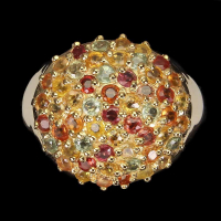 2.70ct Natural Multi-Colored Sapphire Ring (GAL Certified) at PristineAuction.com