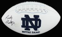 Rudy Ruettiger Signed Notre Dame Fighting Irish Logo Football (JSA COA) at PristineAuction.com