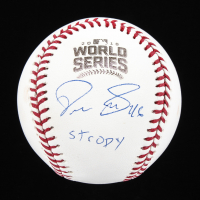"""Pedro Strop Signed Official 2016 World Series Baseball Inscribed """"Stropy"""" (Beckett COA) at PristineAuction.com"""
