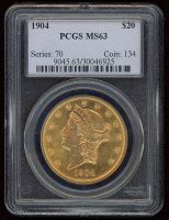 1904 $20 Liberty Head Double Eagle Gold Coin (PCGS MS 63) at PristineAuction.com