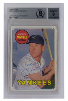 Mickey Mantle Signed 1969 Topps #500A (BGS Encapsulated) at PristineAuction.com