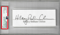 Hillary Rodham Clinton Signed Cut (PSA Encapsulated) at PristineAuction.com