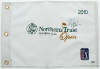 Phil Mickelson Signed 2010 Northern Trust Open Golf Pin Flag (PSA COA) at PristineAuction.com