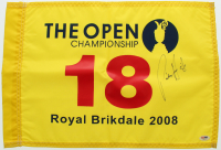 Padraig Harrington Signed 2008 The Open Championship Pin Flag (PSA COA) at PristineAuction.com