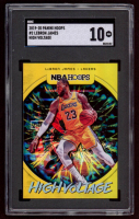 LeBron James 2019-20 Hoops High Voltage #2 (SGC 10) at PristineAuction.com