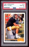 Brett Favre 1991 Upper Deck #13 RC (PSA 10) at PristineAuction.com