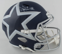 Dak Prescott Signed Cowboys Full-Size AMP Alternate Speed Helmet (Beckett COA) at PristineAuction.com