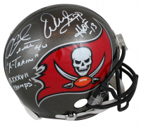 "Warren Sapp & Mike Alstott Signed Buccaneers Full-Size Authentic On-Field Helmet Inscribed ""A-Train"", ""SB XXXVII Champs!"", & ""HOF 13"" (Beckett COA) at PristineAuction.com"