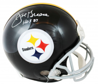 "Joe Greene Signed Steelers Full-Size Authentic On-Field Helmet Inscribed ""HOF 87"" (Beckett COA) at PristineAuction.com"