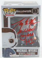 "Tony Moran Signed ""Halloween"" Michael Myers Funko Pop! Vinyl Figure #03 Inscribed ""Michael Myers H1"" (JSA COA) at PristineAuction.com"
