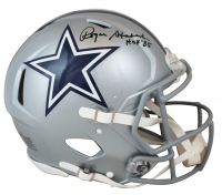 "Roger Staubach Signed Cowboys Full-Size Authentic Speed On-Field Helmet Inscribed ""HOF '85"" (Beckett COA) at PristineAuction.com"