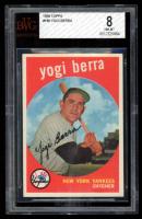 Yogi Berra 1959 Topps #180 RC (BVG 8) at PristineAuction.com