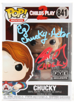"Ed Gale & Brad Dourif Signed ""Child's Play 2"" #841 Funko Pop! Vinyl Figure Inscribed ""Chucky-Actor"" & ""Chucky"" (PSA COA) at PristineAuction.com"