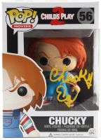 "Ed Gale Signed ""Child's Play 2"" #56 Funko Pop! Vinyl Figure Inscribed ""Chucky"" (PSA COA) at PristineAuction.com"