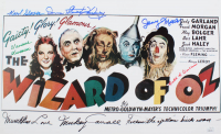 """The Wizard Of Oz"" 11x17 Print Cast-Signed by (6) with Mickey Carroll, Jerry Maren, Donna Stewart-Hardaway, Karl Slover Inscribed ""Munchkin Love"" & ""Follow the Yellow Brick Road"" (JSA COA) at PristineAuction.com"