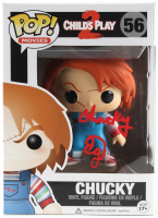 """Ed Gale Signed """"Child's Play 2"""" #56 Funko Pop! Vinyl Figure Inscribed """"Chucky"""" (PSA COA) at PristineAuction.com"""