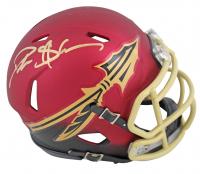 Deion Sanders Signed Florida State Seminoles Blaze Speed Mini-Helmet (Beckett COA) at PristineAuction.com