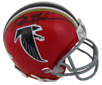 Deion Sanders Signed Falcons Throwback Speed Mini Helmet (Beckett COA) at PristineAuction.com