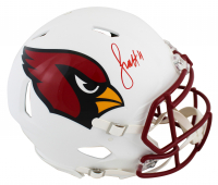 Larry Fitzgerald Signed Cardinals Full-Size Authentic On-Field Matte White Speed Helmet (Beckett COA) at PristineAuction.com