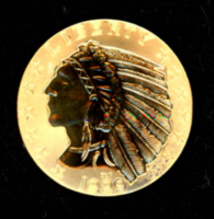 1929 $5 Five Dollars Indian Head Half Eagle Gold Coin at PristineAuction.com