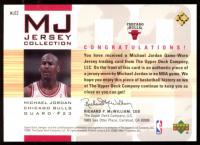 Michael Jordan 2001-02 Upper Deck MJ Jersey Collection #MJC2 RC at PristineAuction.com