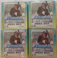 Lot of (4) 2020 Bowman Chrome Baseball Mega Boxes at PristineAuction.com