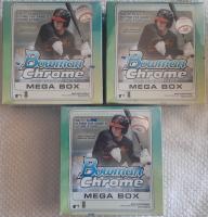 Lot of (3) 2020 Bowman Chrome Baseball Mega Box at PristineAuction.com