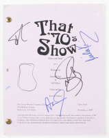 """That 70's Show: Dine and Dash"" Episode Script Signed By (4) with Ashton Kutcher, Mila Kunis, Topher Grace & Wilmer Valderrama (Beckett LOA) at PristineAuction.com"