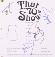 """""""That 70's Show: Dine and Dash"""" Episode Script Signed By (4) with Ashton Kutcher, Mila Kunis, Topher Grace & Wilmer Valderrama (Beckett LOA) at PristineAuction.com"""