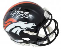 Champ Bailey Signed Broncos Eclipse Alternate Speed Mini-Helmet (Beckett COA & Prova COA) at PristineAuction.com