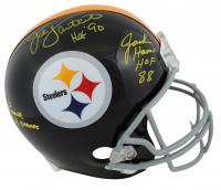 "Jack Lambert, Jack Ham & Andy Russell Signed Steelers Full-Size Helmet Inscribed ""HOF '90"", ""HOF 88"" & ""2x S.B. Champs"" (Beckett COA) at PristineAuction.com"