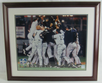 2000 Yankees 22x27 Custom Framed Photo Display Team-Signed by (29) with Derek Jeter, Mariano Rivera, Andy Pettitte, Joe Torre (JSA LOA) at PristineAuction.com
