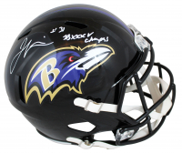 "Jamal Lewis Signed Ravens Full-Size Speed Helmet Inscribed ""SB XXXV Champs!"" (Beckett COA) at PristineAuction.com"