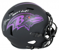 "Jamal Lewis Signed Ravens Eclipse Alternate Full-Size Speed Helmet Inscribed ""SB XXXV Champs!"" (Beckett COA) at PristineAuction.com"