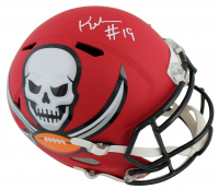Keyshawn Johnson Signed Buccaneers AMP Alternate Speed Full-Size Helmet (JSa COA) at PristineAuction.com