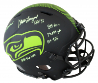 Steve Largent Signed Seahawks Full-Size Authentic On-Field Eclipse Alternate Speed Helmet with (6) Inscriptions (Beckett COA) at PristineAuction.com