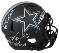 "Michael Irvin, Drew Pearson, & CeeDee Lamb Signed Cowboys Eclipse Alternate Speed Full-Size Helmet Inscribed ""Defend The Star"" & ""Club 88"" (Beckett COA & Fanatics Hologram) at PristineAuction.com"